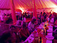 Funky party marquee