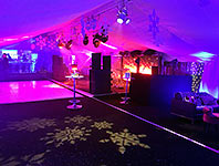 Glamorous marquee party