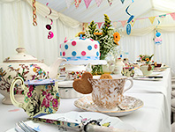 Teatime party tent
