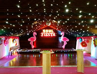 Colourful party marquee