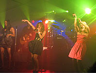 Sugababes in a marquee