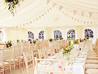 Shabby chic marquee wedding reception