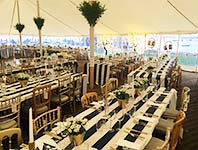 Traditional style wedding reception