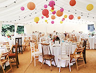 Vintage wedding marquee