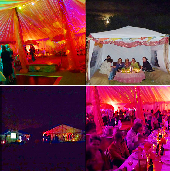 Cool marquee party