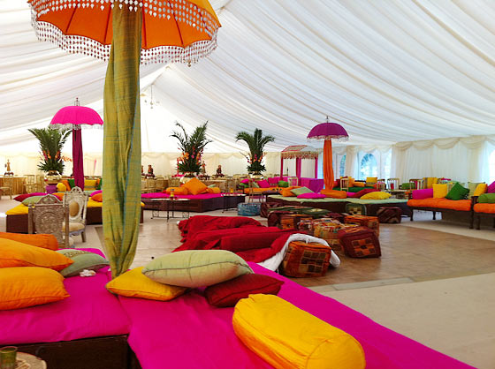 Indian marquee hire example