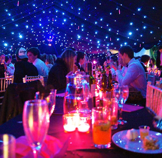 Eighteenth birthday marquee