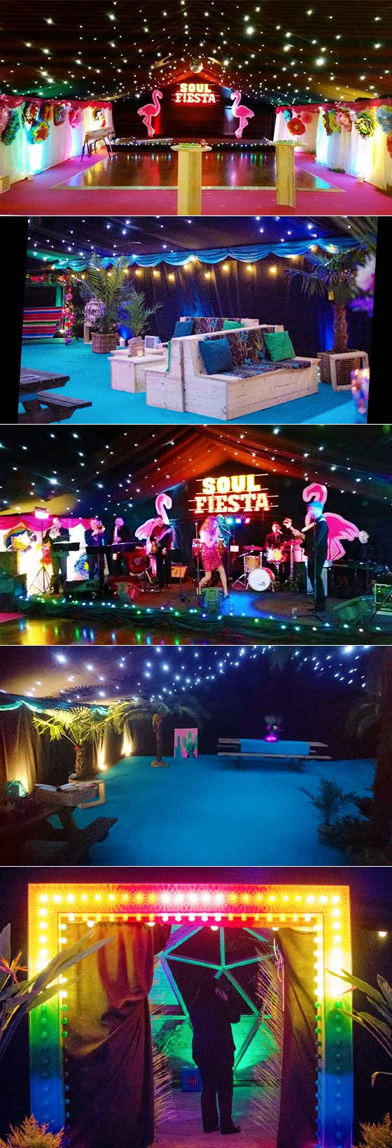 Quirky marquee party