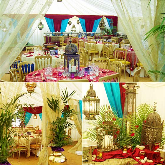 Moroccan tent decoration