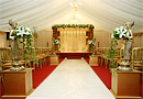 Indian marquee with mandap