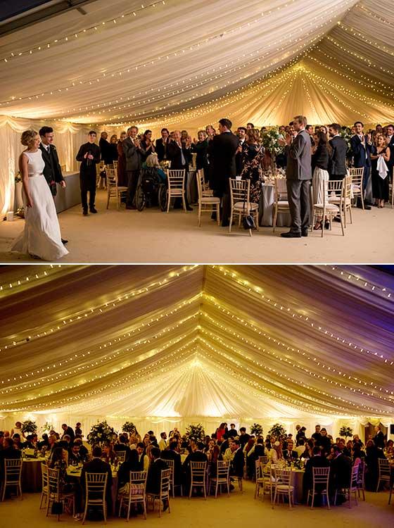 Marquee Wedding Reception - Photo