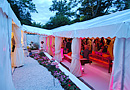 Marquee walkway for 2 large marquees