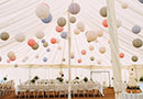 Marquee with lanterns