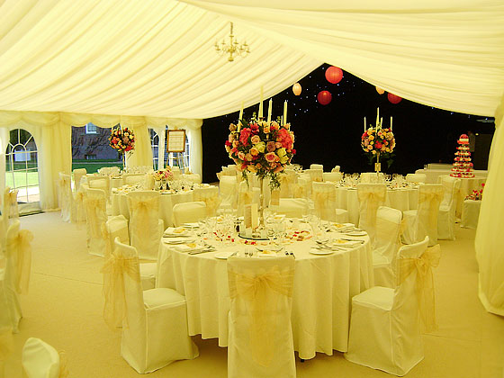 Elegant modern wedding marquee