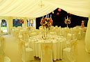 Elegant wedding marquee