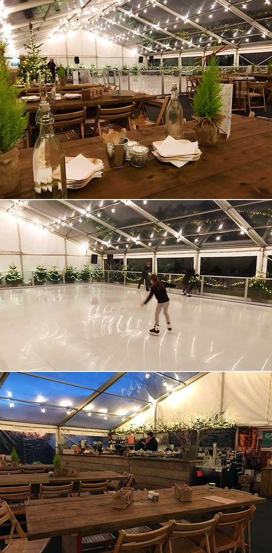 Marquee hire for seasonal skating event