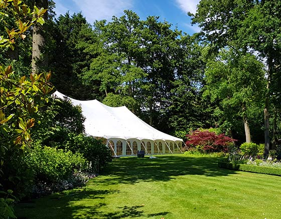 External view of traditional marquee