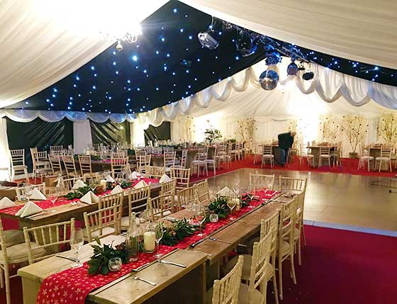 Large corporate party marquee in Sevenoaks, Kent