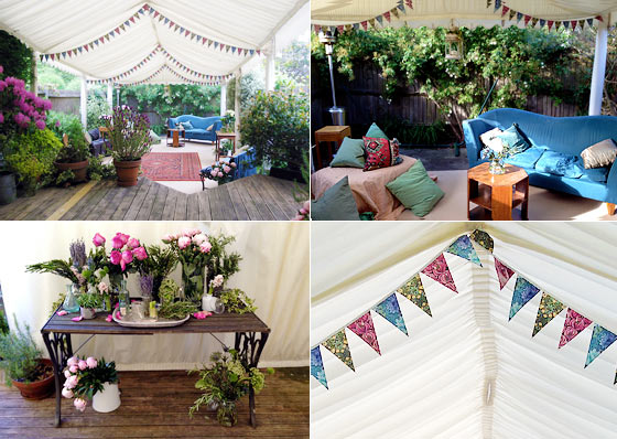 Marquee Party In Vintage Style