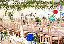Vintage style wedding tent