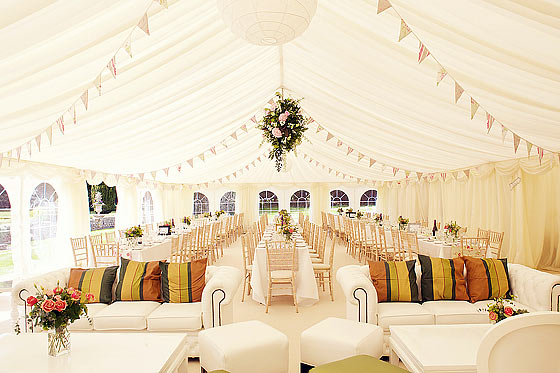 Simply Decorated Wedding Marquee Hire Newport