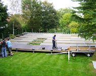 Constructing a platform for a marquee, marquee work Surrey