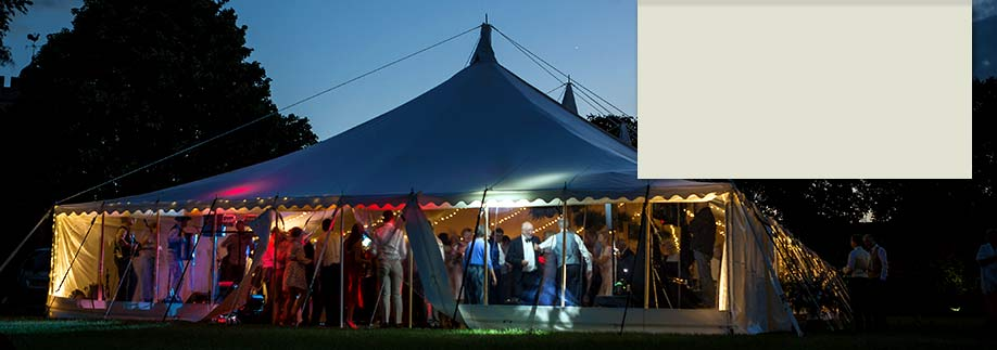 Wedding reception in traditional style marquee outside Milton Keynes,  Bedfordshire