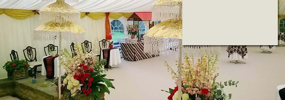 Indonesian style wedding marquee and long term hire