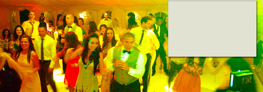 Dancing in a luxurious wedding marquee