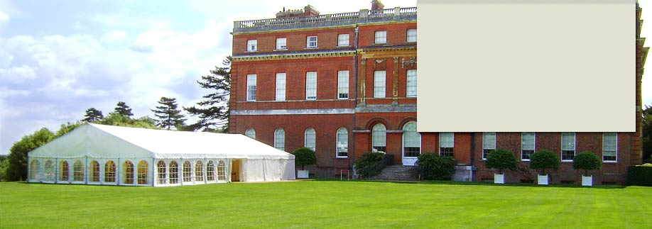 Marquee at country house venue