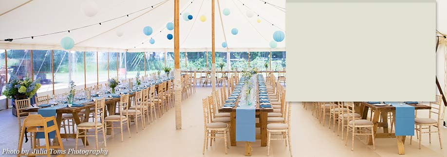 Wedding reception with marquee
