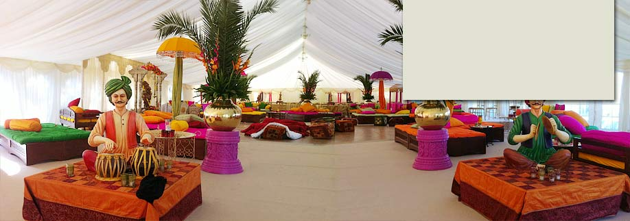 Colourful Indian style marquee