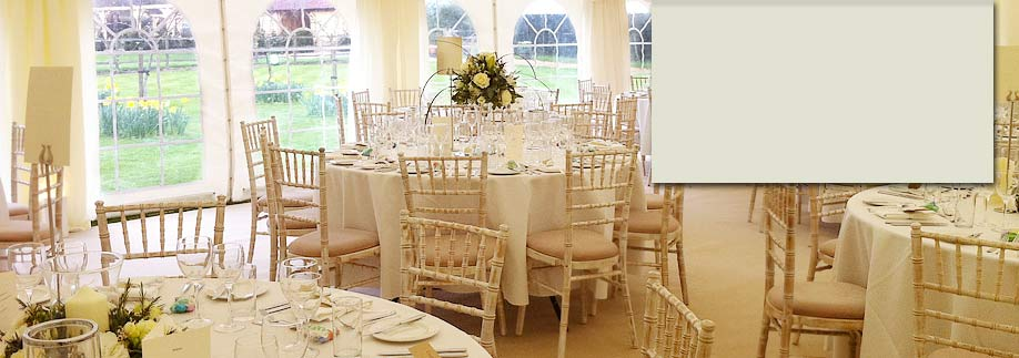 Wedding marquee in Westerham, Kent
